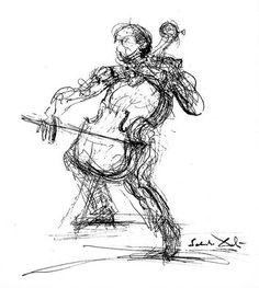 The Cellist by Daly