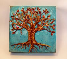 Almost Done, fall tree of polymer clay