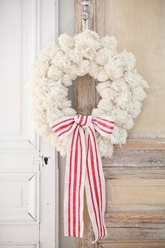 white floral wreath!