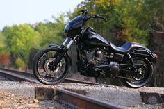 blacked out street bobs   Black Betty Dual Disc Club Style Street Bob Photoshoot - Harley Riders ...