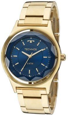 014f09e9433 Relógio Technos Elegance Crystal Swarovski 2035MIC 4A