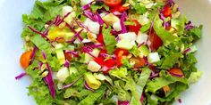 This Mexican Chopped Salad is a salad that I never get tired of. It's loaded with so many colors, textures and flavors and not to mention many important nutrients our bodies crave! The bright and tangy dressing goes perfectly with these fresh ingredients and reminds me of the warm summer months that lie ahead!    ``Quick tip: Make extra and top with a protein of your choice to make a healthy and satisfying lunch!`` ####Mexican Chopped Salad Prep Time: 10 minutes | Serves: 3-4…