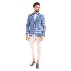 #blazer con fantasia a quadri, camicia e pantaloni dal taglio classico per un look #casual #chic Gian Vargian  #GianVargian #ss16