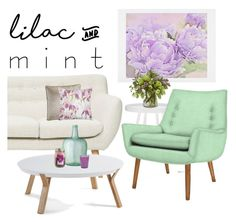 """""""lilac and mint."""" by tothineownselfbtrue ❤ liked on Polyvore featuring interior, interiors, interior design, home, home decor, interior decorating, DENY Designs, Sferra, M&Co and Jonathan Adler"""