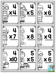 """How to Avoid the Summer Slide! Summer is right around the corner! We all LOVE our summer vacation, but not the """"Summer Slide! Multiplication Flash Cards Printable, Teaching Multiplication, Teaching Math, Multiplication Strategies, Math Fractions, Division Flash Cards, Math Flash Cards, Flashcards For Toddlers, School Fun"""