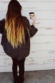 Dip dye hair :) Love <3 mun hiukset on kuin hiirenhäntä :(