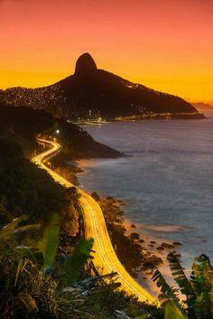 Rio de Janeiro's coastline.
