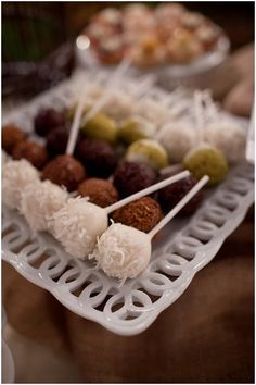 Cake pops from Windows Catering.   Real Wedding: Nimita and Greg