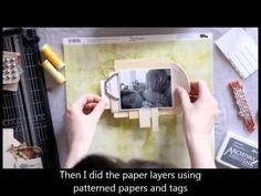 Image result for mixed media scrapbooking using patterned paper