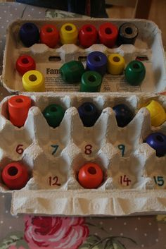 Egg Box Count and Sort! - The Imagination Tree Math For Kids, Fun Math, Crafts For Kids, Numbers For Kids, Math Numbers, Preschool Eggs, Numeracy Activities, Imagination Tree, Crazy Kids
