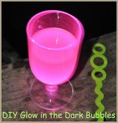 diy glow in the dark bubbles!