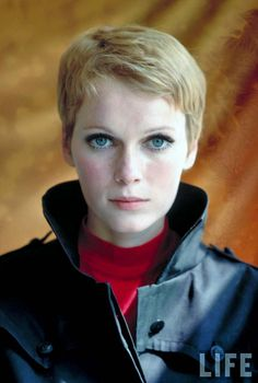 Mia Farrow 1967. remember how shocking it was when she cut her hair? And how GREAT she looked.
