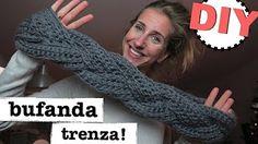 bufandas tejidas con gancho modernas - YouTube