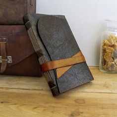 Leather Journal with strap closure