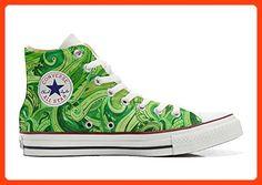 Converse Custom - personalisierte Schuhe (Handwerk Produkt) Hot Colore Paisley  40 EU