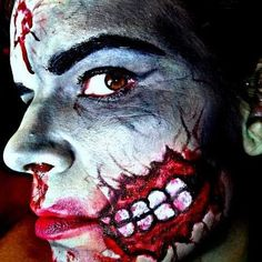 Zombie Halloween makeup. Pin-up inspired.