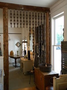 wooden chain room divider