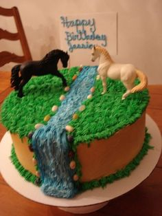 Best Birthday Cake Images, Themed Birthday Cakes, Birthday Cake Girls, Themed Cakes, Geek Birthday, 8th Birthday, Birthday Ideas, Horse Theme Birthday Party, Horse Party