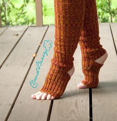 Yoga socks collection by Cloudberry Factory - some colorful, some - grey and decorated. They are all knee high leg warmers for a colorful everyday wardrobe.