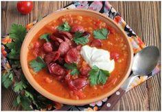 Суп с охотничьими колбасками рецепт. Испанский суп с колбасками.