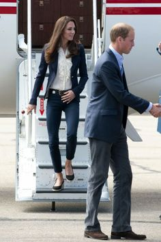 Catherine, Duchess of Cambridge and Prince William, Duke of Cambridge arrive to Slave Lake at Yellowknife Airport on July 6, 2011 in Yellowknife, Canada.