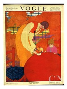 Vogue Cover - October 1918 Poster Print by Georges Lepape at the Condé Nast Collection