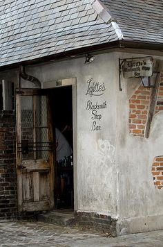 Lafitte's Blacksmith Shop Bar ~ a tavern on Bourbon Street. Built sometime before 1772, it is one of the older surviving structures in New Orleans.