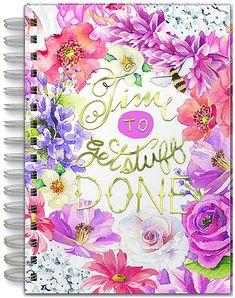 #ad. Get Stuff Done' Floral Spiral Bound Journal