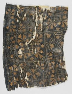 Textile Fragment Egypt, Early Medieval Textiles; fragments Linen plain weave, resist dyed 7 3/8 x 10 3/16 in. (18.73 x 25.87 cm) The Madina ...