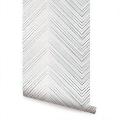 Chevron Lines Navy Peel & Stick Fabric Wallpaper Repositionable - Simple Shapes Wall Decals, Furniture, and Accessories Lines Wallpaper, Wallpaper Panels, Geometric Wallpaper, Fabric Wallpaper, Wallpaper Roll, Peel And Stick Wallpaper, Wallpaper Size, Wallpaper Ideas, Mountain Mural