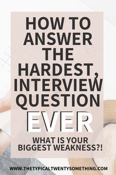 How to answer the job interview question, what is your biggest weakness. Answering this question is easy with these tips.
