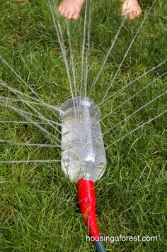 Outdoors Kids DIY Water Activities - DIY Sprinkler Tutorial - DIY Projects & Crafts by DIY JOY diy crafts for kids homemade 23 Incredibly Fun Outdoor Crafts for Kids Water Play Activities, Fun Activities For Toddlers, Summer Activities, Indoor Activities, Family Activities, Kids Crafts, Summer Crafts, Summer Fun, Summer Days
