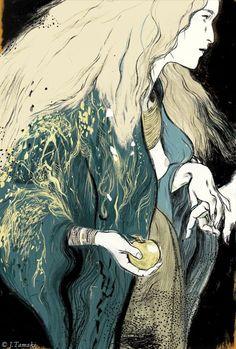 Irish Myths and Legends, with illustrations by Jillian Tamaki, a Brooklyn-based artist | Public library