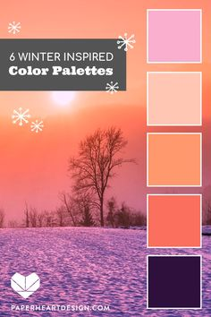 Six gorgeous color palettes to inspire you to use color in interior design, branding, marketing, wedding colors, and more! color schemes fall rustic colour palettes inspiration boards 6 Color Palettes Inspired by the Colors of Winter Color Schemes Colour Palettes, Nature Color Palette, Pastel Colour Palette, Colour Pallette, Color Combos, Seeds Color Palettes, Bathroom Color Palettes, Winter Colour Palette, Orange Color Schemes