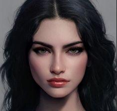 Digital Art Girl, Digital Portrait, Portrait Art, Brunette Aesthetic, Aesthetic Girl, Sketch Inspiration, Girl Inspiration, Disney Princess Pictures, Female Character Inspiration