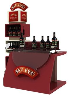 Mueble degustación Baileys Display Design, Booth Design, Promotional Stands, Bar Counter Design, Point Of Sale, Display Stands, Exhibition Stands, Contract Furniture, Eye Candy