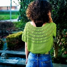 How to Design a round Yoke Top – ByKaterina Crochet Yoke, Crochet Cardigan Pattern, Double Crochet, Single Crochet, Crochet Stitches, Crochet Blouse, Lace Patterns, Crochet Patterns, Crochet Short Sleeve Tops