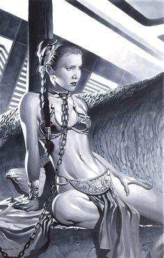 Slave Leia /by *chriss2d #deviantART #StarWars #art
