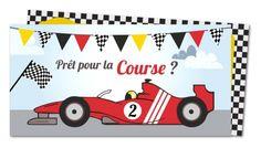 Carte invitation anniversaire Voiture de course (FR-551)