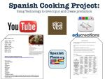 Spanish Cooking Project using Technology and providing necessary input