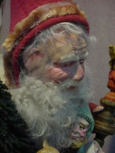 """Deep in thought, """"How to repair the world"""" LOVE   Norma DeCamp's Santa"""