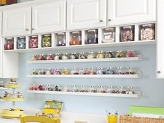 50 Clever Organization Hacks to Revamp Your Craft Room diy craft room organization ideas - DIY Craft Ideas Sewing Room Storage, Sewing Room Organization, Craft Room Storage, Sewing Rooms, Diy Storage, Storage Ideas, Craft Rooms, Craft Shelves, Cube Storage
