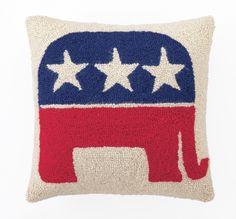 Republican Logo Wool Throw Pillow