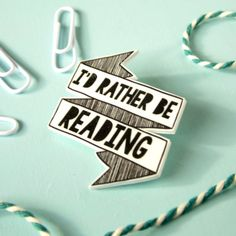 Rather be Reading Brooch for Book Lovers by TheRaspberryFinch