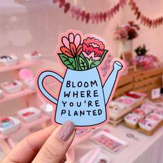 Letter Discover Bloom Vinyl Sticker- Bloom Where Youre Planted Motivational Sticker Inspirational Self Affirming Laptop Sticker Floral Feminist Gift Cute Laptop Stickers, Car Bumper Stickers, Diy Stickers, Sticker Ideas, Happy Stickers, Sticker Shop, Sticker Design, Planner Stickers, Keramik Design