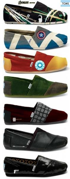 Not that I ever want to wear TOMS but the superhero aspect makes them pretty cool..  I found 'Avengers TOMS Shoes' on Wish, check it out!