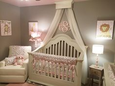 Bed Crown Canopy Crib Crown Nursery Design by TheChicDecorShop
