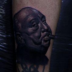 #tattoo #tattoos #tattooartist #tattooart #tattooartwork #tatuaje #tatuajes #tatuagem   #movietattoos #hitchcock #realistictattoo  #revolution #horrormovies #blackandgreytattoos #ink #inked #inkstagram #cancadaver #bonitocadaver #boniccadavertattoo #calella #barcelona #km666