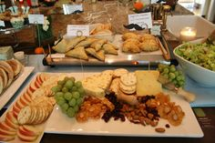 Artisan Cheese and meat Buffet wedding | station- exotic cheese tray w/ dried & fresh fruit, nuts, artisan ...