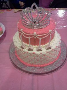 princess cake with a crown or one using figurines